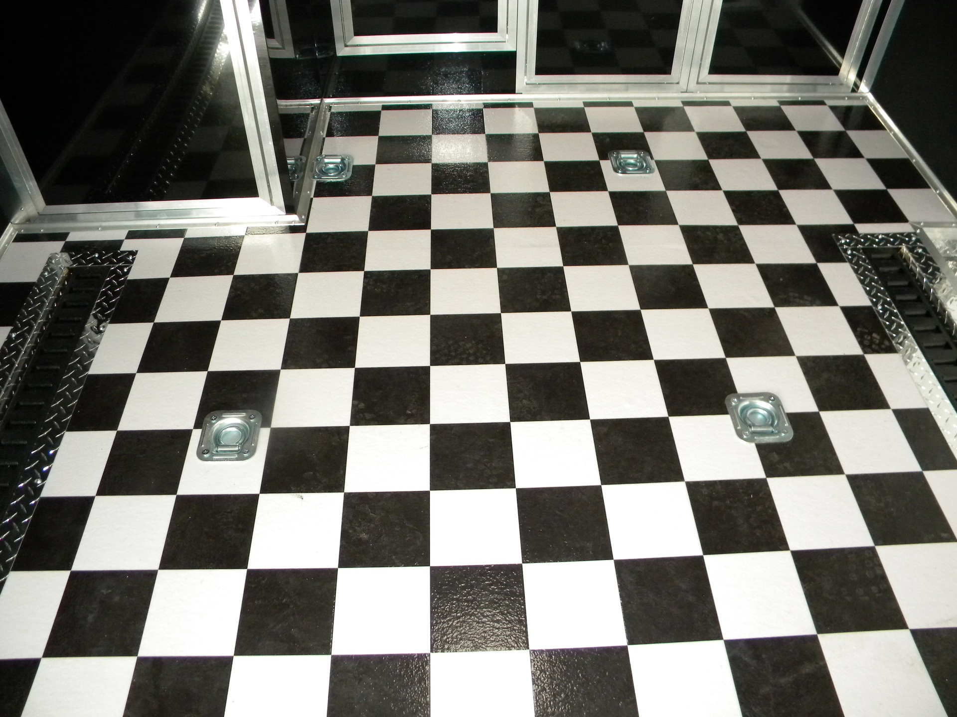 Checkerboard sheet vinyl wide width 53046 floor source for Black linoleum flooring
