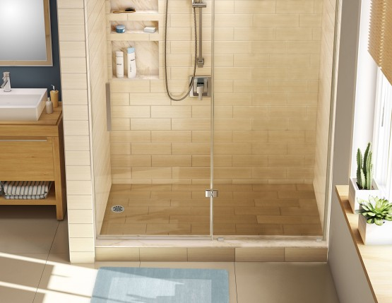 Tile Redi Single Curb Shower Pan Left Drain 3460L - Floor Source and ...