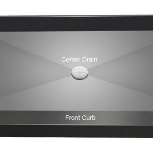 Tile Redi Shower Pan Center Drain 3760c