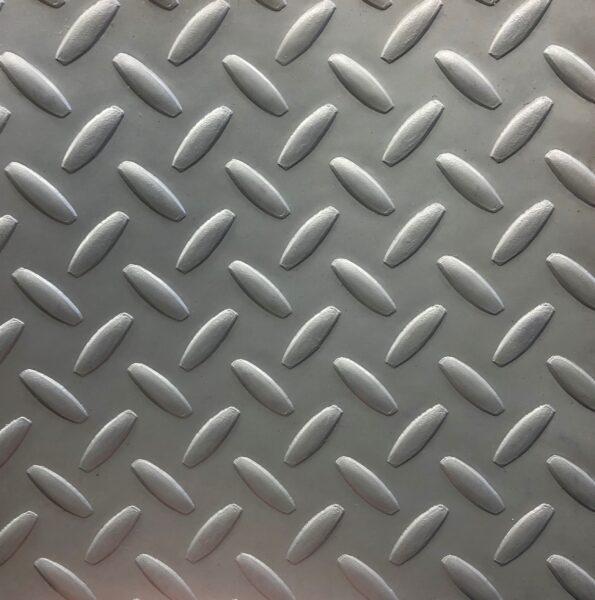 Diamond Plate Vinyl Flooring Grey