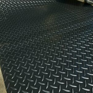 Raised Diamond Plate Vinyl Flooring 3' Wide