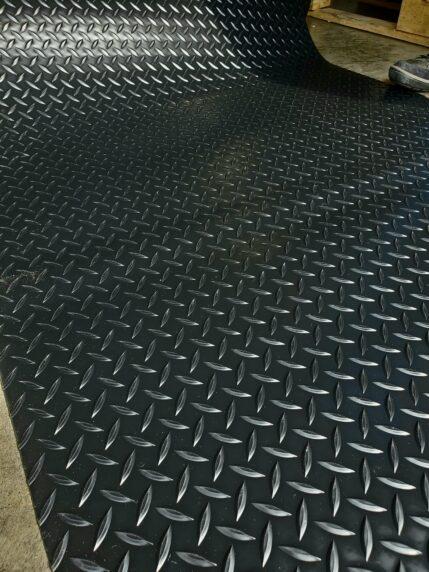 Raised Diamond Plate Vinyl Flooring 3' Wide