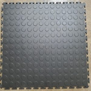 RACE Interlocking Coin Tile BLACK